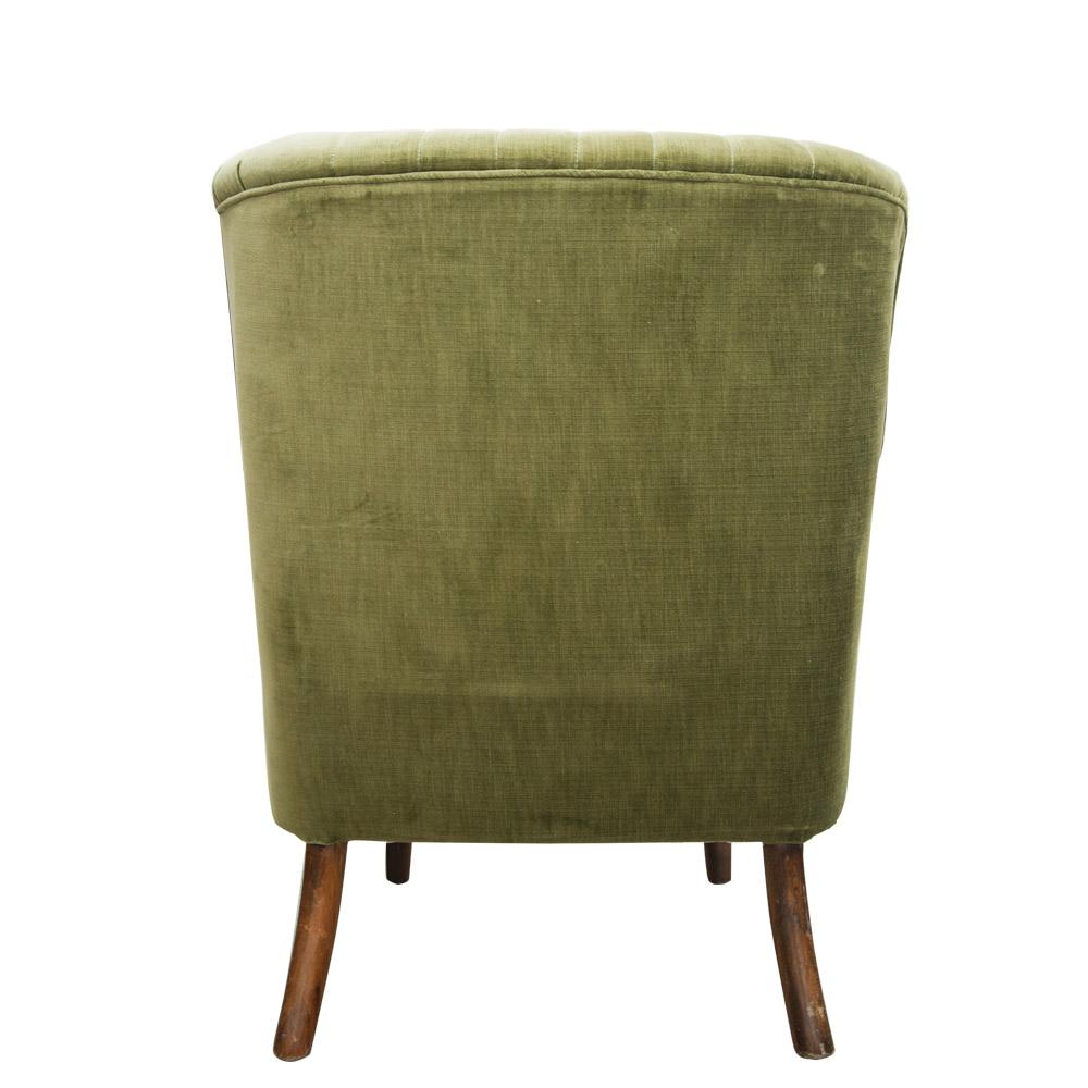 General Store Ltd Chairs Green Velvet Arm Chair